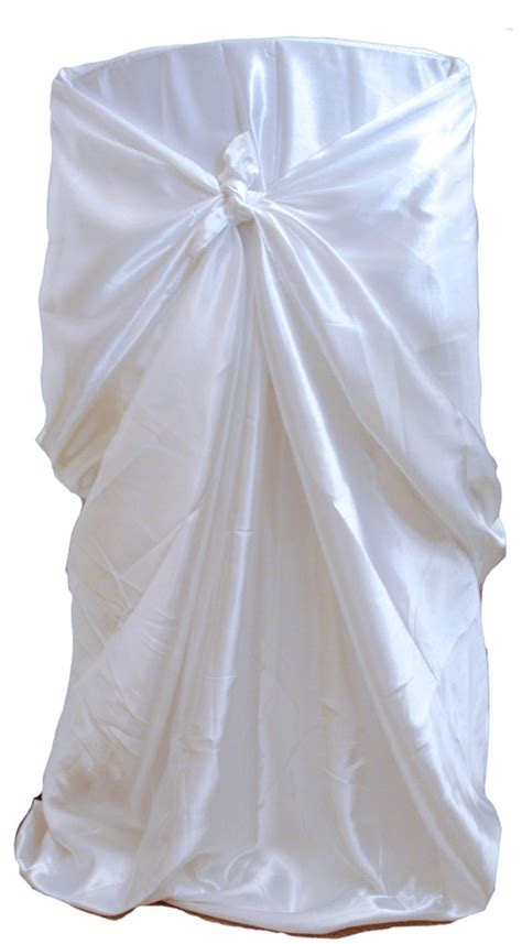 10 white satin universal chair covers wedding event tie ebay