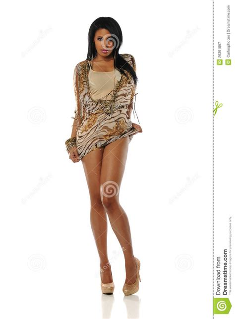 young black woman fashion model posing stock image image