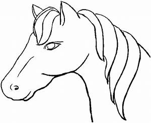 Horse Head Coloring Page - ClipArt Best