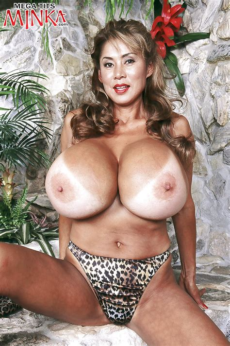 Mature Asian Solo Girl Minka Flaunting Monster Boobs While