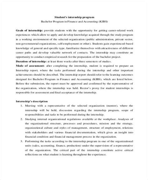 internship program template internship student report templates 11 free word pdf format free premium templates