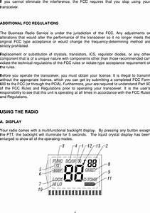 Radio Shack 1901208 Business Band Transceiver User Manual