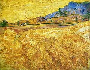 Enclosed Field With Reaper - Post Impressionist Vincent ...