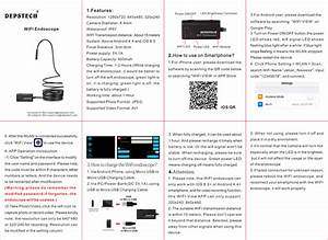 Deep Sea Investment Wf010 Wifi Endoscope User Manual