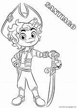 Santiago Seas Coloring Pages Nickelodeon Fun sketch template