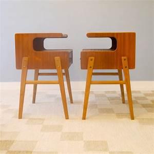 Pied De Meuble Vintage : chevets vintage pieds compas la maison retro ~ Dallasstarsshop.com Idées de Décoration