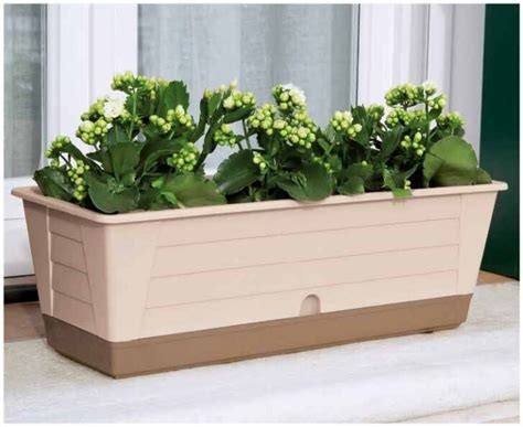 Window Sill Plant Pots by Garden Window Sill Plant Basket Trough Pot Box Container