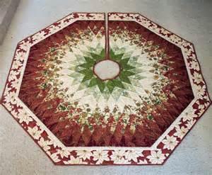 60 inch christmas tree skirt quilt diamonds all around