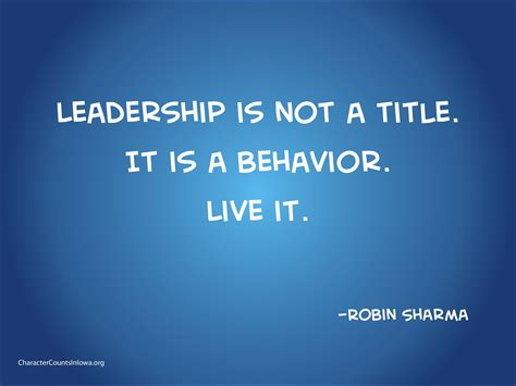 leadership    title    behavior