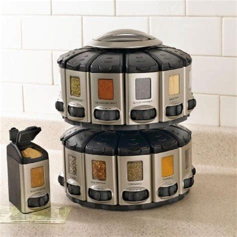 Spice Carousel by Brylanehome Space Saver Spice Carousel With Built In