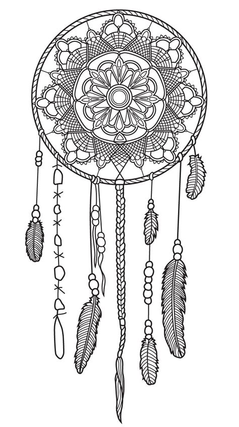 dreamcatcher coloring page colorish app  coloring