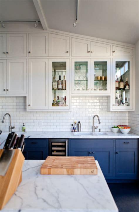 halfsies   kitchen  bi colored cabinets