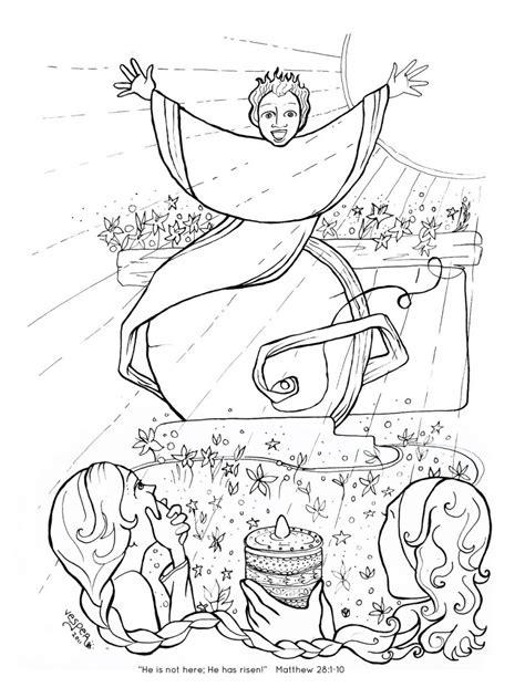 religious easter coloring pages  worksheets