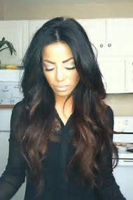 Long Dark Ombre Hair