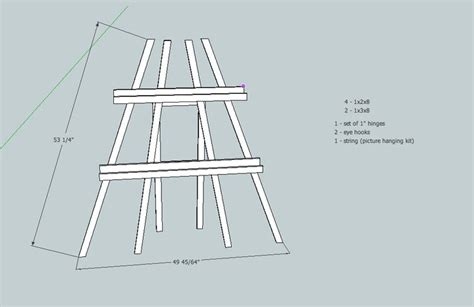 art easel construction plans woodworking projects plans