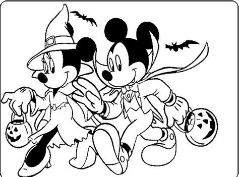 mickey  minnie halloween coloring  kids inkleur