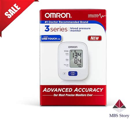 Omron 3 Series Upper Arm Blood Pressure Monitor with Cuff