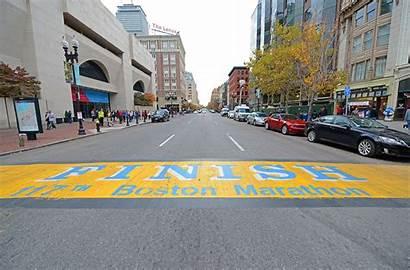 Marathon Boston Woman Finish Line Patriots April