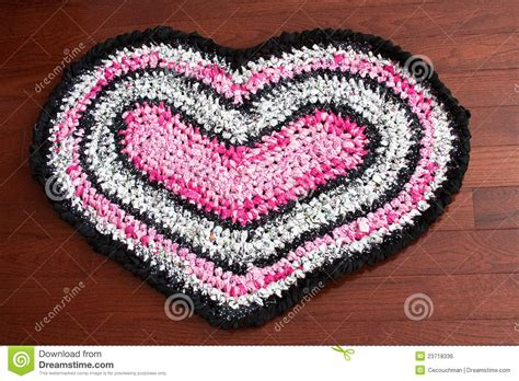 Rag Area Rugs by Heart Shaped Rag Rug Royalty Free Stock Image Image