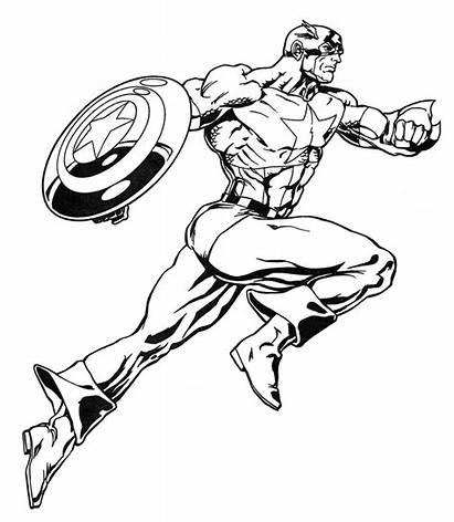 Marvel Coloring Superheroes Super Heroes