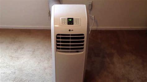 lg  btu portable air conditioner youtube