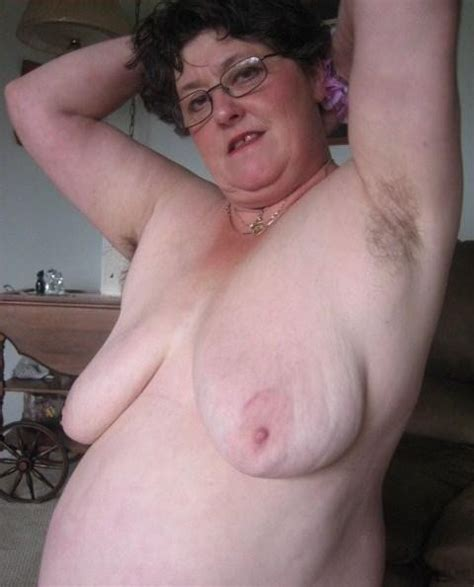 Mix of stretchmarks on grannies saggy tits 6 - all fat ...