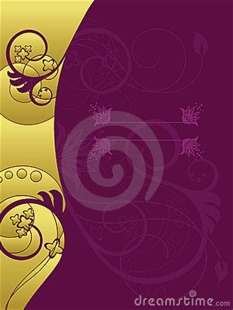 gold  purple floral background royalty  stock