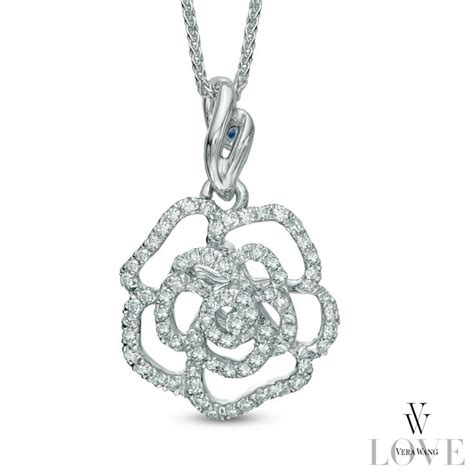 vera wang love collection rose pendant jewelry