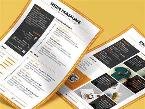 Take a moment to check out our 'shades of orange' cv template. Free Minima Resume PSD Template (Orange Color) | free psd ...