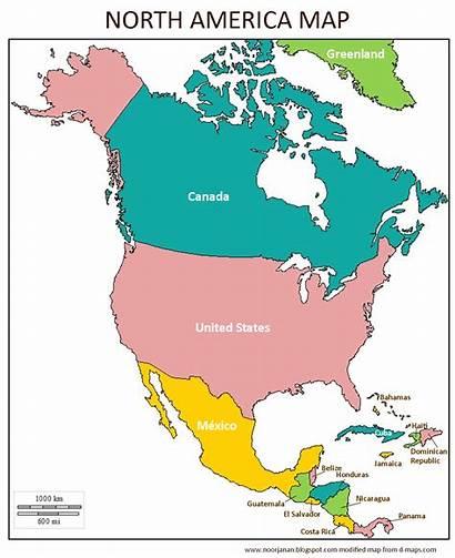America North Map Countries Noor Janan Homeschool