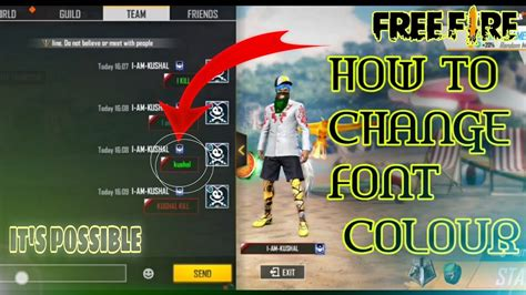 Just search, then drag and drop! HOW TO CHANGE FONT COLOUR IN FREE FIRE#kushalbhaigaming ...