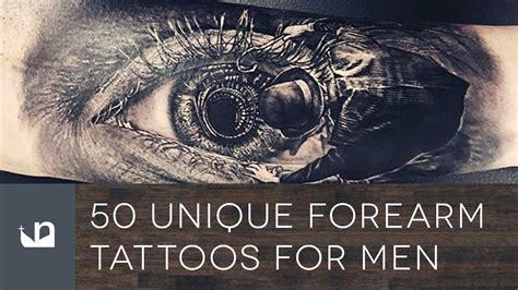 unique forearm tattoos  men youtube