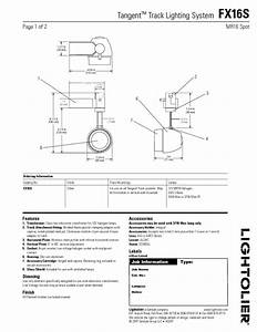 Tangent Track Lighting System Fx16s Manuals