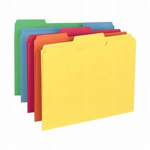 smead 11943 assorted color letter size file folders 1 3 With smead letter size file folders