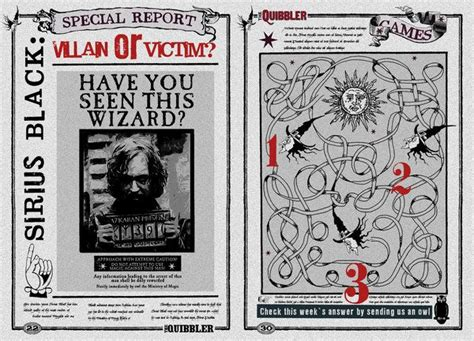 Quibbler Page Sirius Black Villain Or Victim By Jhadha