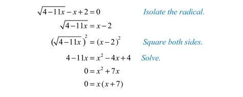 Solving Radical Equations