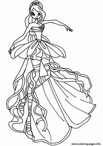 winx club color pages - bloom harmonix winx club coloring pages printable