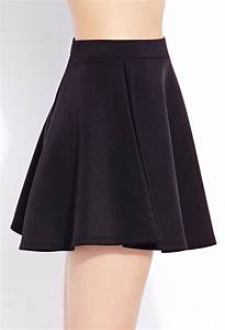 Forever 21 Favorite Skater Skirt in Black   Lyst