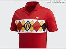 Belgium 1984 Euro Adidas Originals Home Replica Jersey