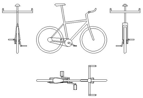 Bicycle To As2890.3 Autocad Block