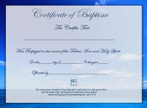 Free Editable Baptism Certificate Template by Word Certificate Template 51 Free Sles
