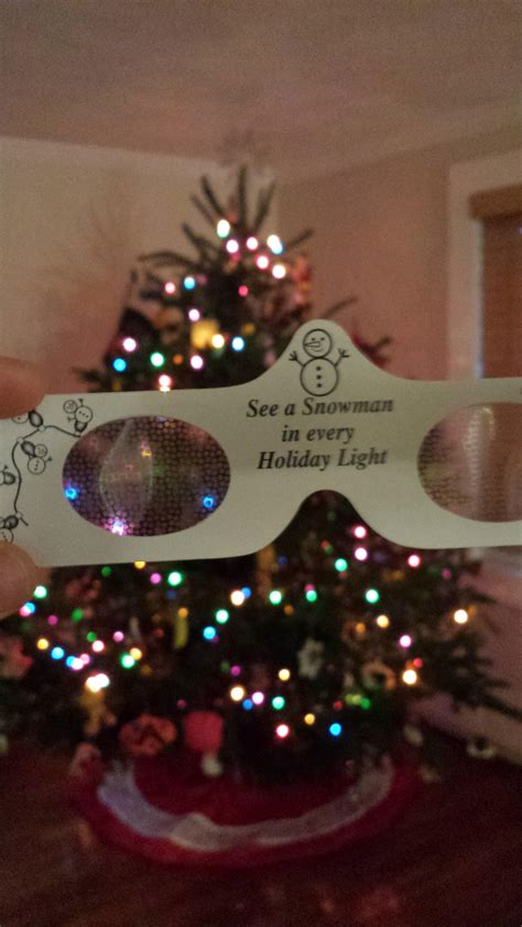 these glasses make christmas lights look like snowmen