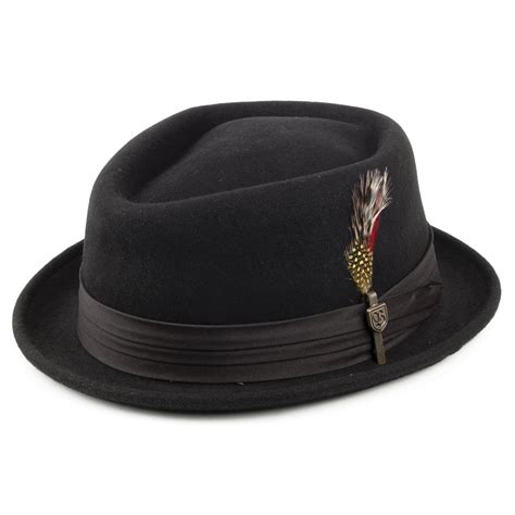 brixton hats stout pork pie hat black from village hats