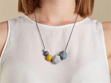 Mustard & grey Silicone Necklace - Kodes