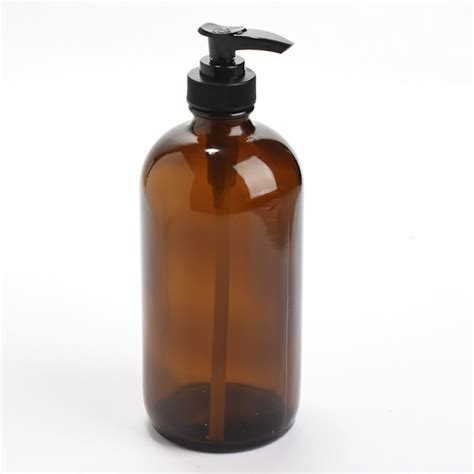 amber glass apothecary bottle dispenser soap