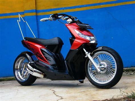 Modif Motor Mio Lama Merah by Otomotif Modifikasi Motor Beat 2012
