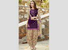 Fashionnow Purple Cotton Patiala Salwar Kameez Patiala