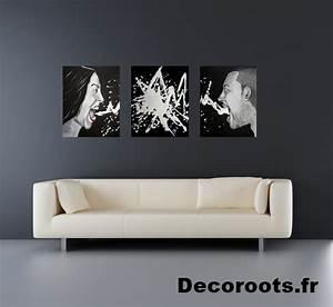 Tableau Deco Noir Et Blanc : tableau d co triptyque design contemporain la col re s rie des sept p ch s capitaux design ~ Melissatoandfro.com Idées de Décoration