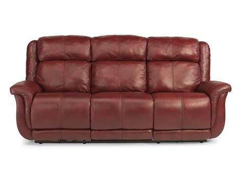 flexsteel leather reclining sofa flexsteel living room leather power reclining sofa 1251