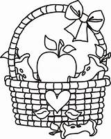 Basket Coloring Apple Pages Clip Clipart Picnic Fruit Printable Empty Apples Cliparts Template Outline Preschoolers Sheet Clipartmag Cartoon Popular Coloringhome sketch template
